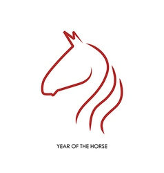 Chinese new year of the Horse abstract red shape vector