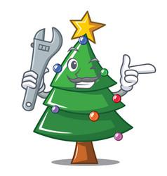 Christmas christmas tree character cartoon vector