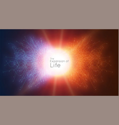Colorful attraction of life connecting vector
