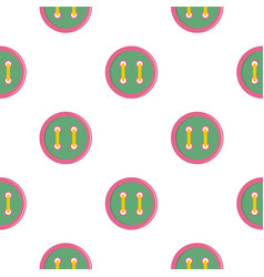 Colorful clothing button pattern flat vector