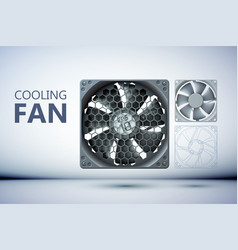 Cooling ventilation system design concept vector