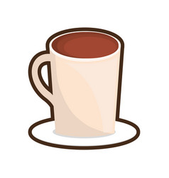 Cup coffee plate hot design vector