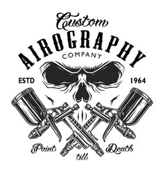 Custom aerography company emblem vector
