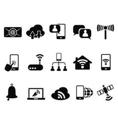 digital communication icons set vector image vector image