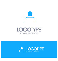 Discover people instagram sets blue solid logo vector