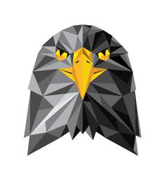 Eagle head logo design in low poly vector