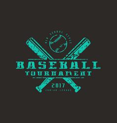 Emblem baseball tournament vector