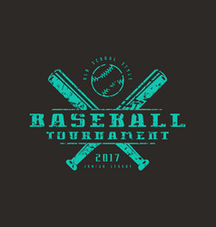 emblem of baseball tournament vector image