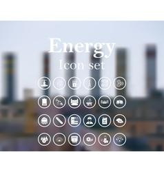 Energy icon set vector