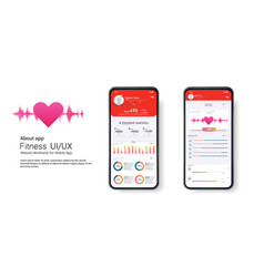 fitness app ui ux design ui kit design vector image