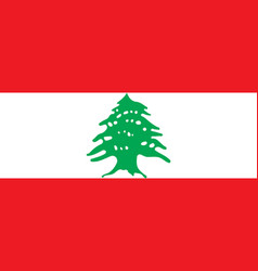 Flag of lebanon official colors and proportions vector