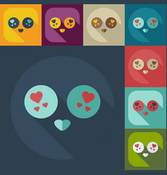 Flat modern design with shadow icons smiley vector