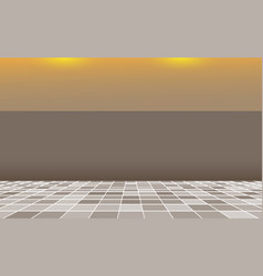 Grey square mosaic tiles background banner brown vector