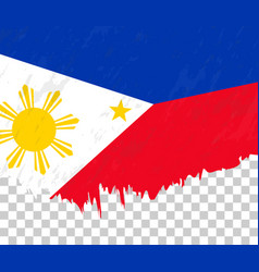 Grunge-style flag philippines on a transparent vector