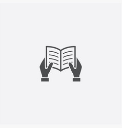 hands book icon vector image