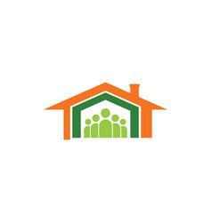 Home family icon logo vector