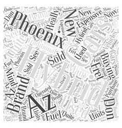Hybrid cars phoenix az Word Cloud Concept vector