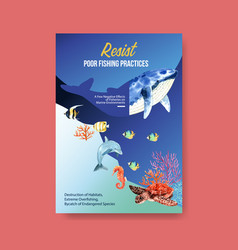 Information about world oceans day concept vector