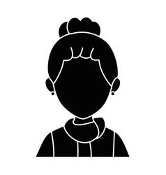 isolated young woman upperbody vector image