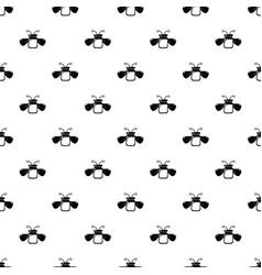 Jar bee honey pattern seamless vector