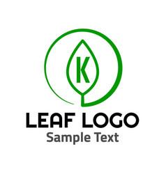 k leaf logo symbol icon sign vector image