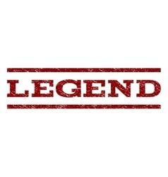 Legend Watermark Stamp vector image vector image