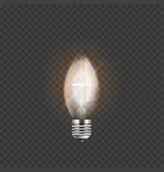 light bulb or electric lamp 3d realistic vector image