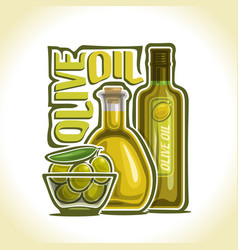 Logo olive oil vector