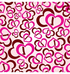love hearts seamless pattern eps10 vector image