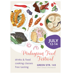 Malaysian food festival poster template vector