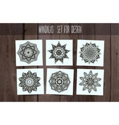 Mandala Card Set vector