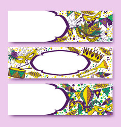 Mardi gras or shrove tuesday cards vector