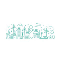 modern environmentally friendly city with vector image