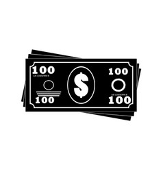 Money banknotes stack icon vector