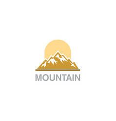 mountain nature hill logo vector image