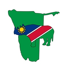Namibia black rhino vector image