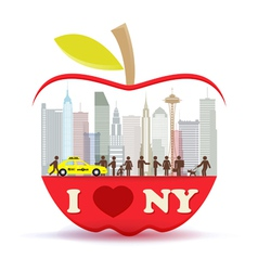 new york city in big apple vector image