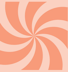 Orange summer twirl background vector