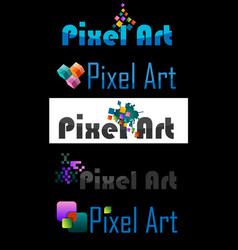 Pixel art logo vector