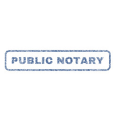 Public notary textile stamp vector