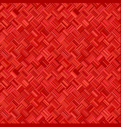 Red geometrical diagonal striped square mosaic vector