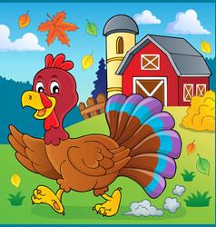 running turkey bird theme image 2 vector image