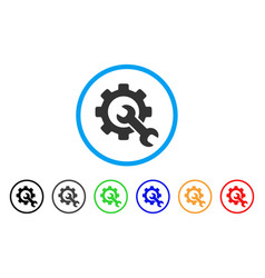 service tools rounded icon vector image