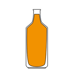 Sketch color silhouette milk glass bottle vector