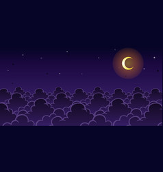 Sky night game background vector