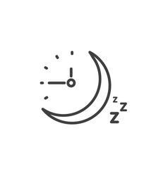 sleep time clock icon countdown future day night vector image