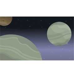 Space planet background of landscape vector