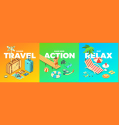 Summer activities vector