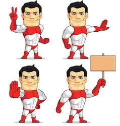Superhero customizable mascot 7 vector