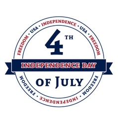 Symbol American Independence Day celebration vector image